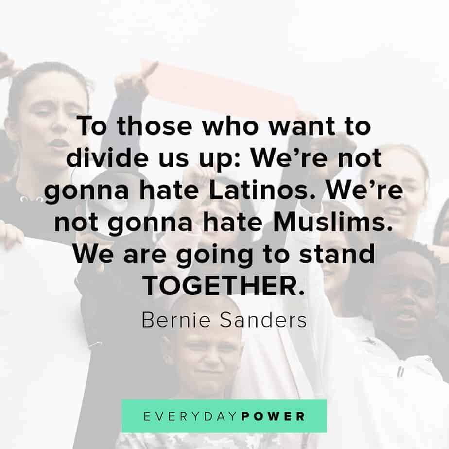 Bernie Sanders quotes on unity