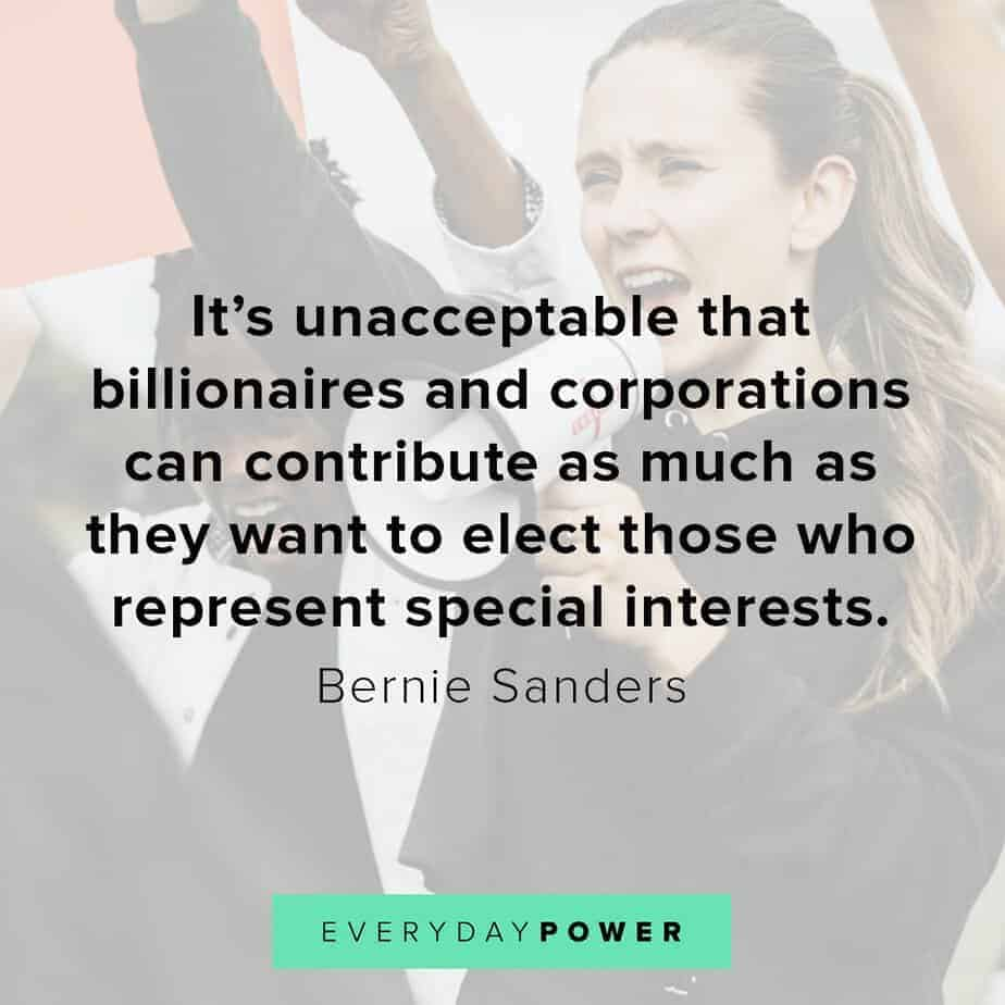 Bernie Sanders quotes on special interests