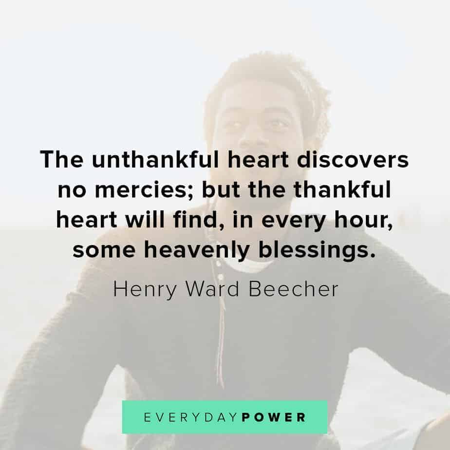 Blessed quotes about thankful heart