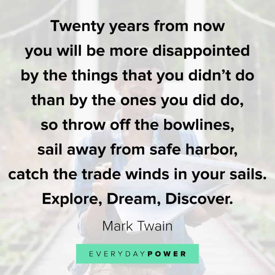 Encouraging quotes on exploring your dreams