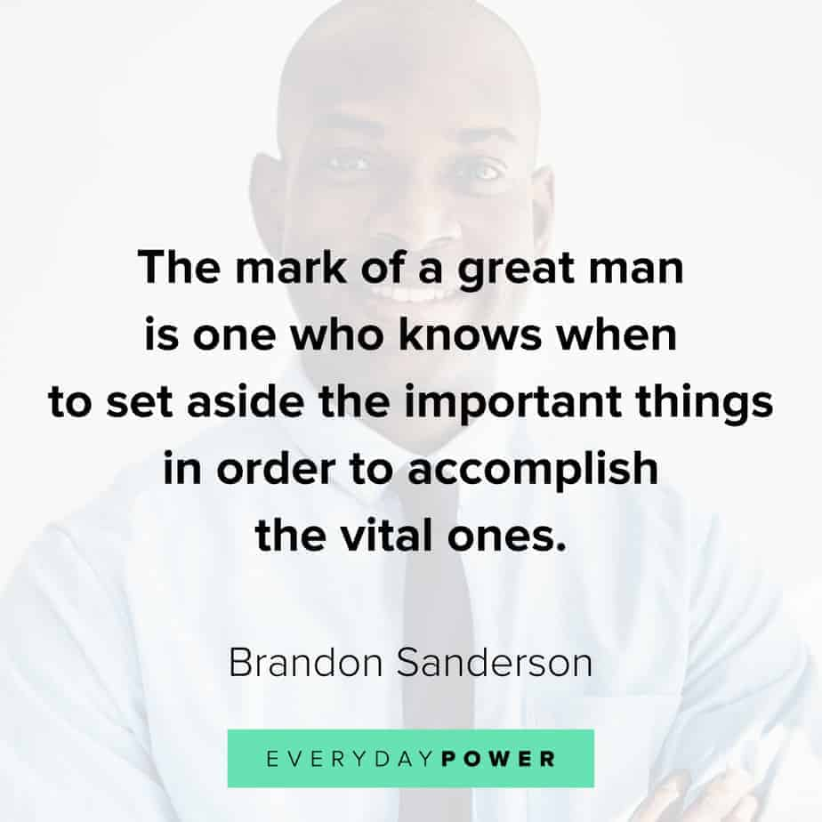 Good Man Quotes about greatness