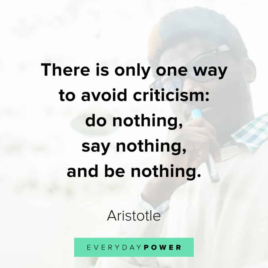Good Morning Quotes on criticism
