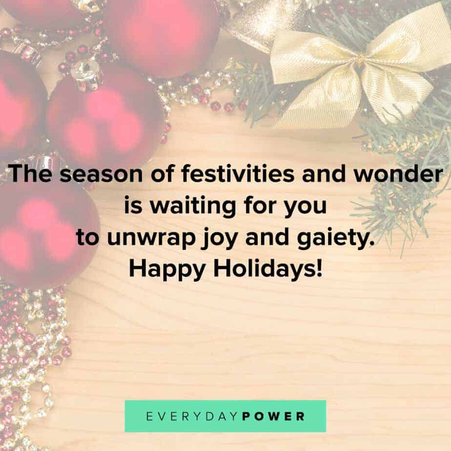 Happy Holidays Quotes about festivities