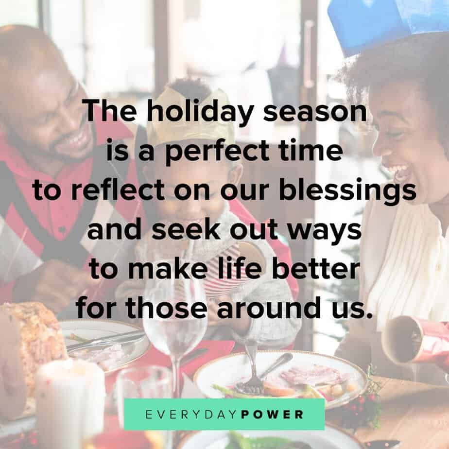 Happy Holidays Quotes about blessings