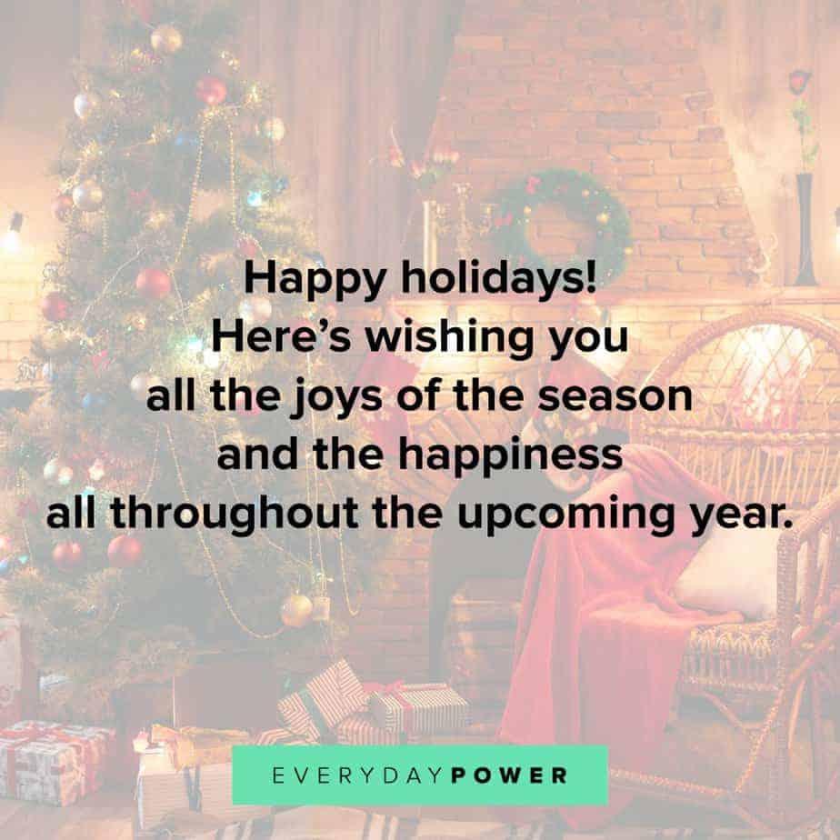 Happy Holidays Quotes wishing you joy