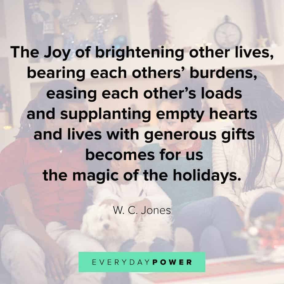 Happy Holidays Quotes about geneorisity