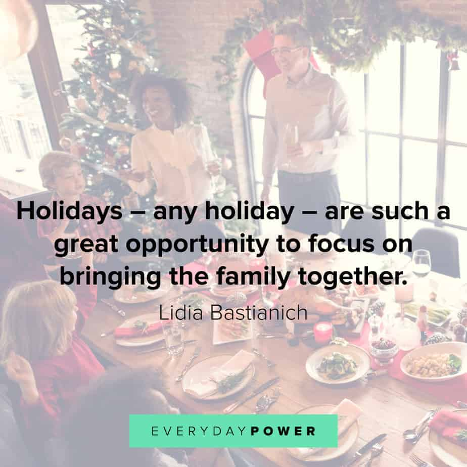 Happy Holidays Quotes about family