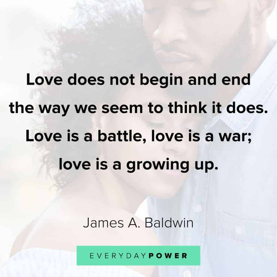James Baldwin quotes on growth
