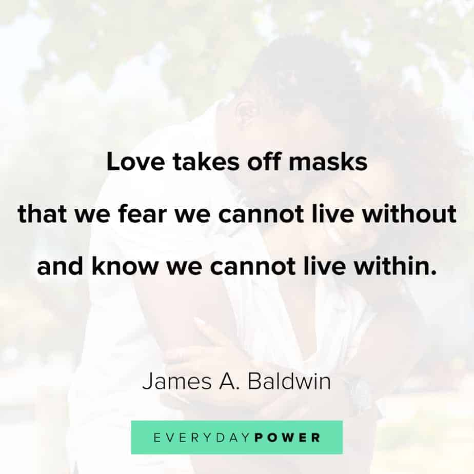James Baldwin quotes on fear