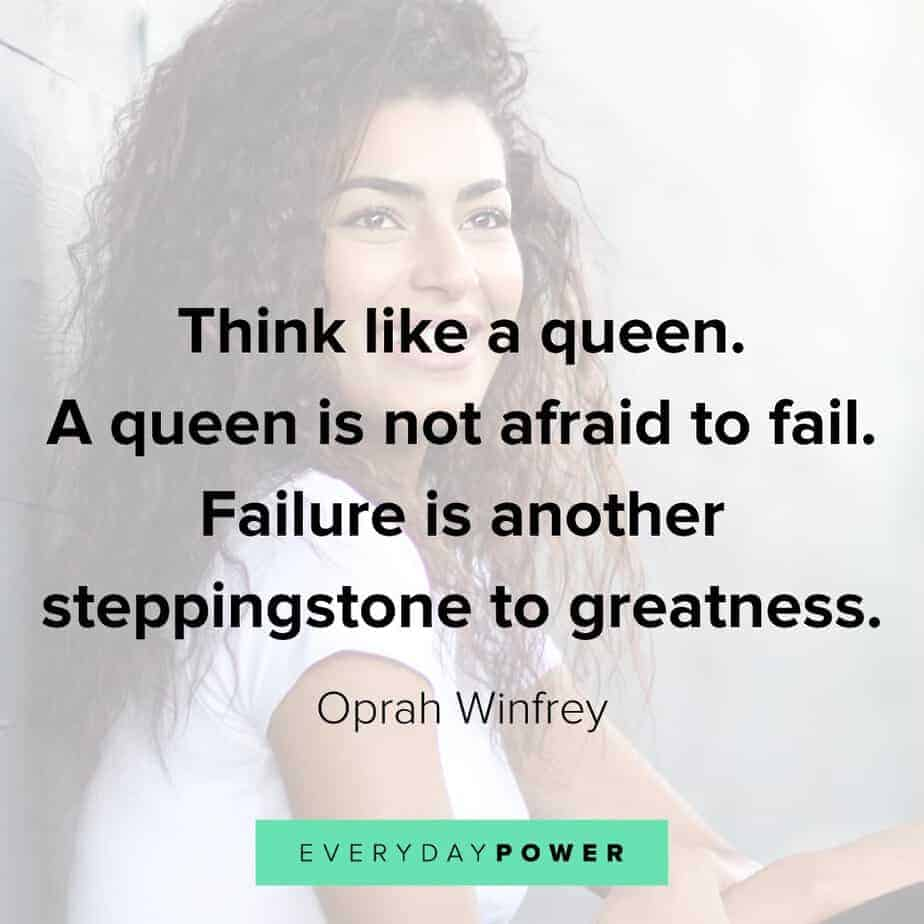 Queen Quotes about overcoming failure