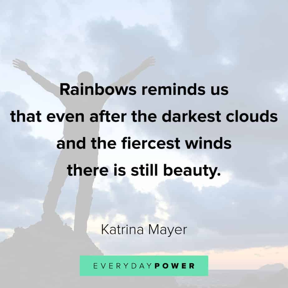 Rainbow quotes about clouds