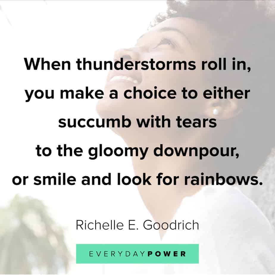 Rainbow quotes about thunderstorms
