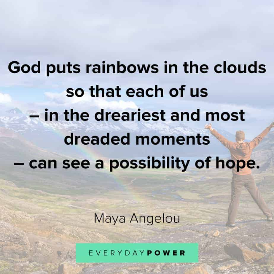 Rainbow quotes on possibilities
