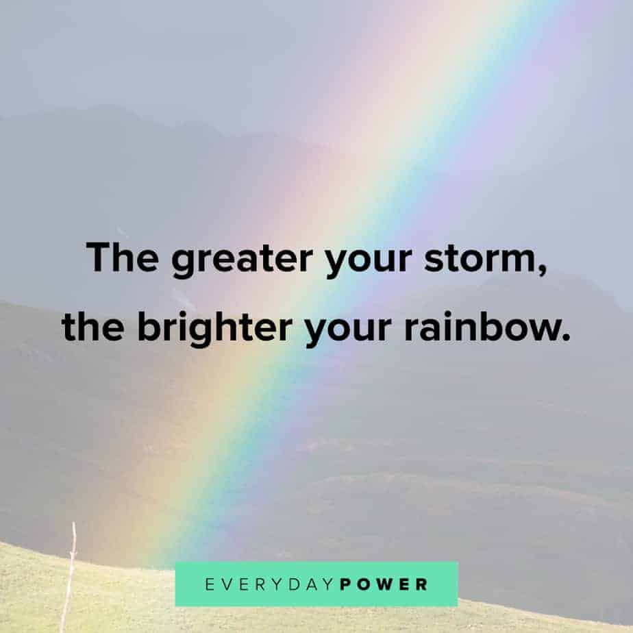 Rainbow quotes about storms