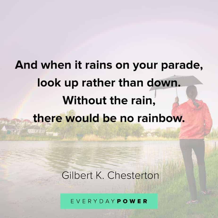 Rainbow quotes on looking up