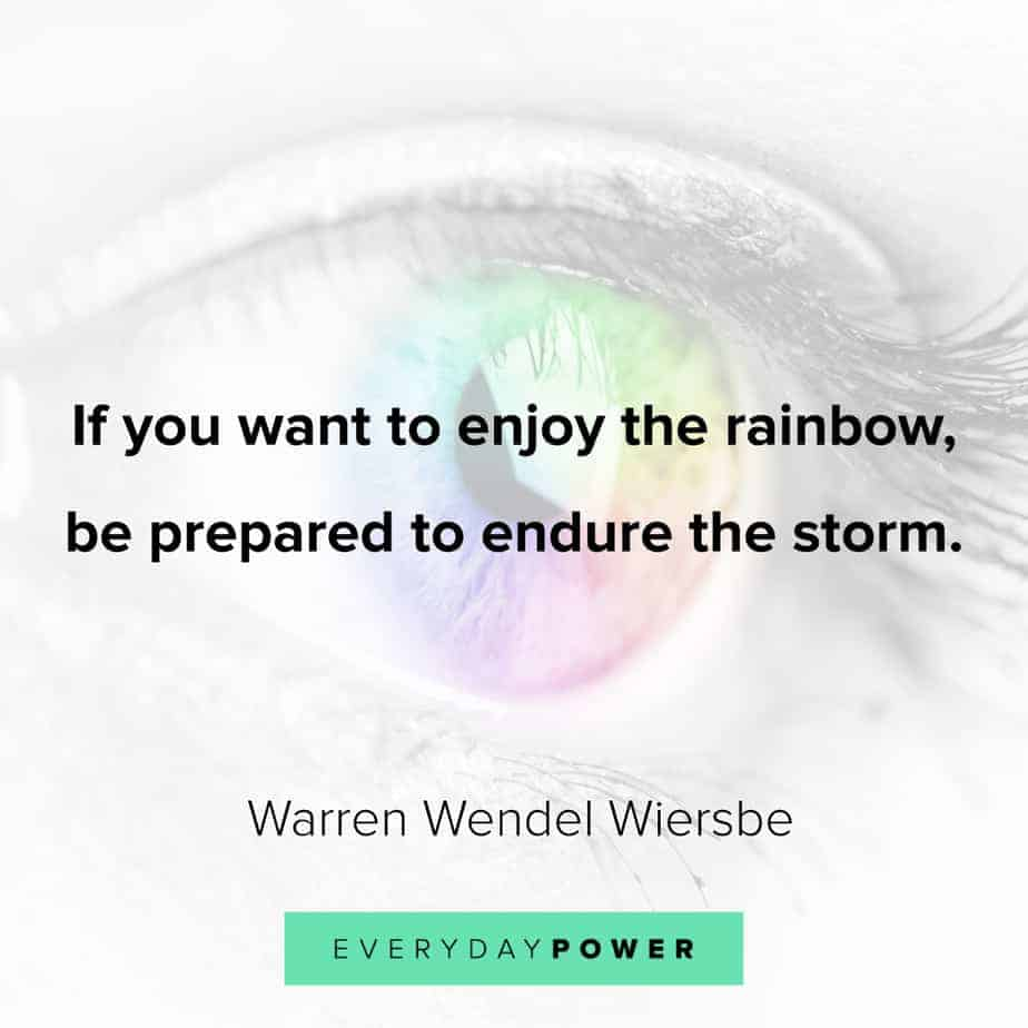 Rainbow quotes on endurance