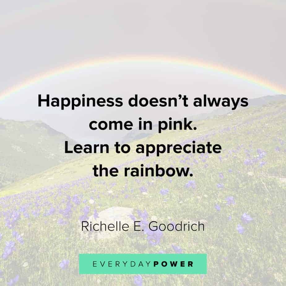Rainbow quotes about appreciation