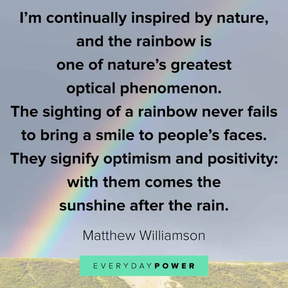 Rainbow quotes on positivity
