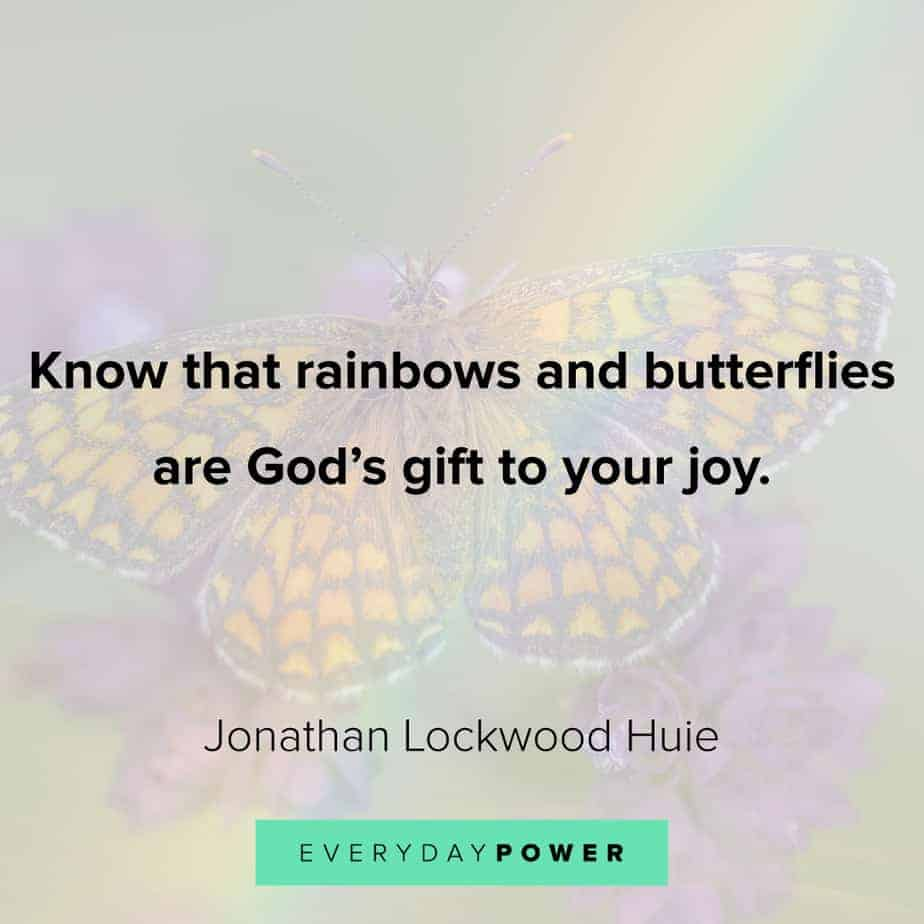 Rainbow quotes about butterflies