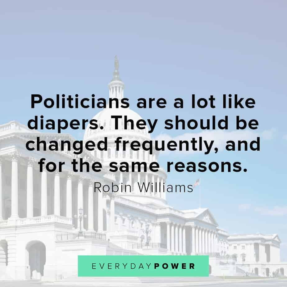 Robin Williams quotes on politicians