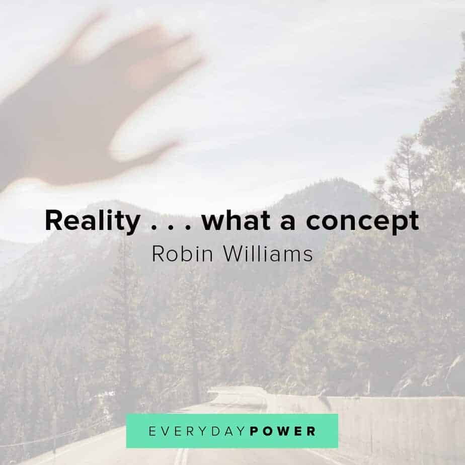 Robin Williams quotes on reality