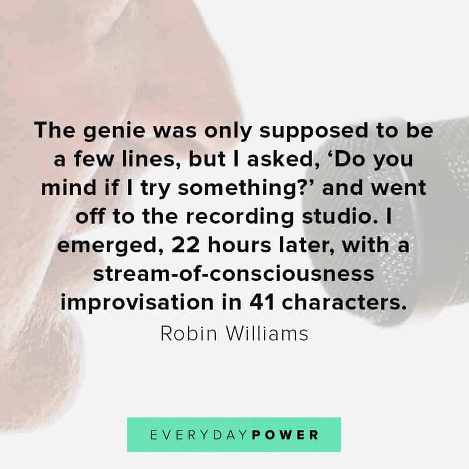 Robin Williams quotes on the genie