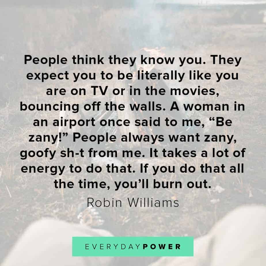 Robin Williams quotes on people