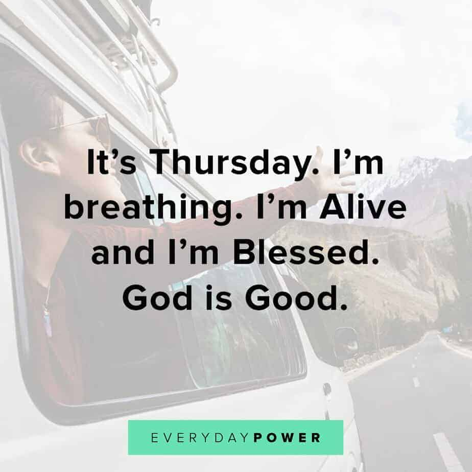 Thursday Quotes on being blessed