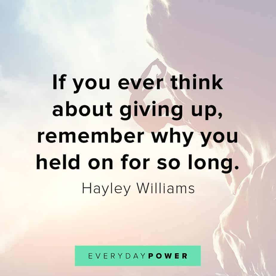 Thursday Quotes on giving up