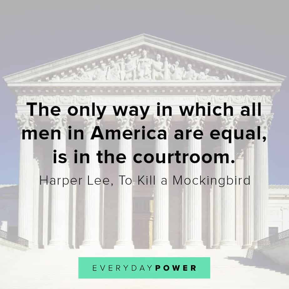 To Kill a Mockingbird Quotes about the courtroom
