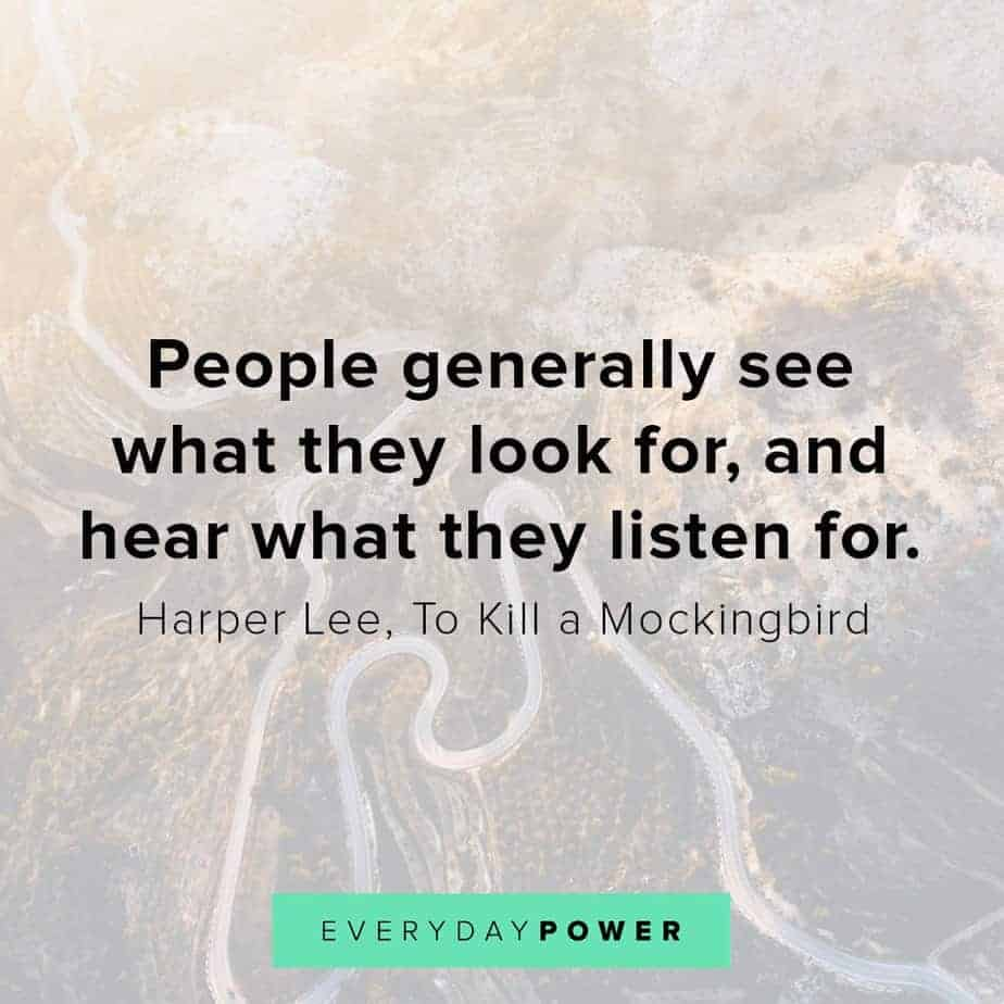 To Kill a Mockingbird Quotes on what people see