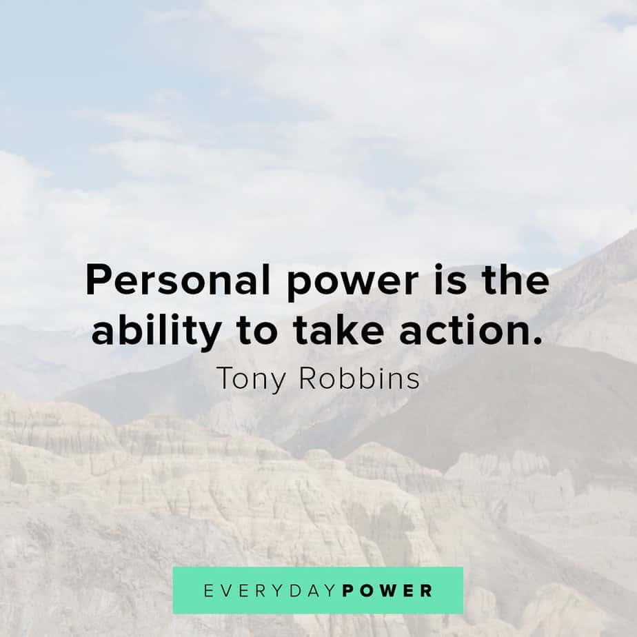 Tony Robbins quotes on personal power