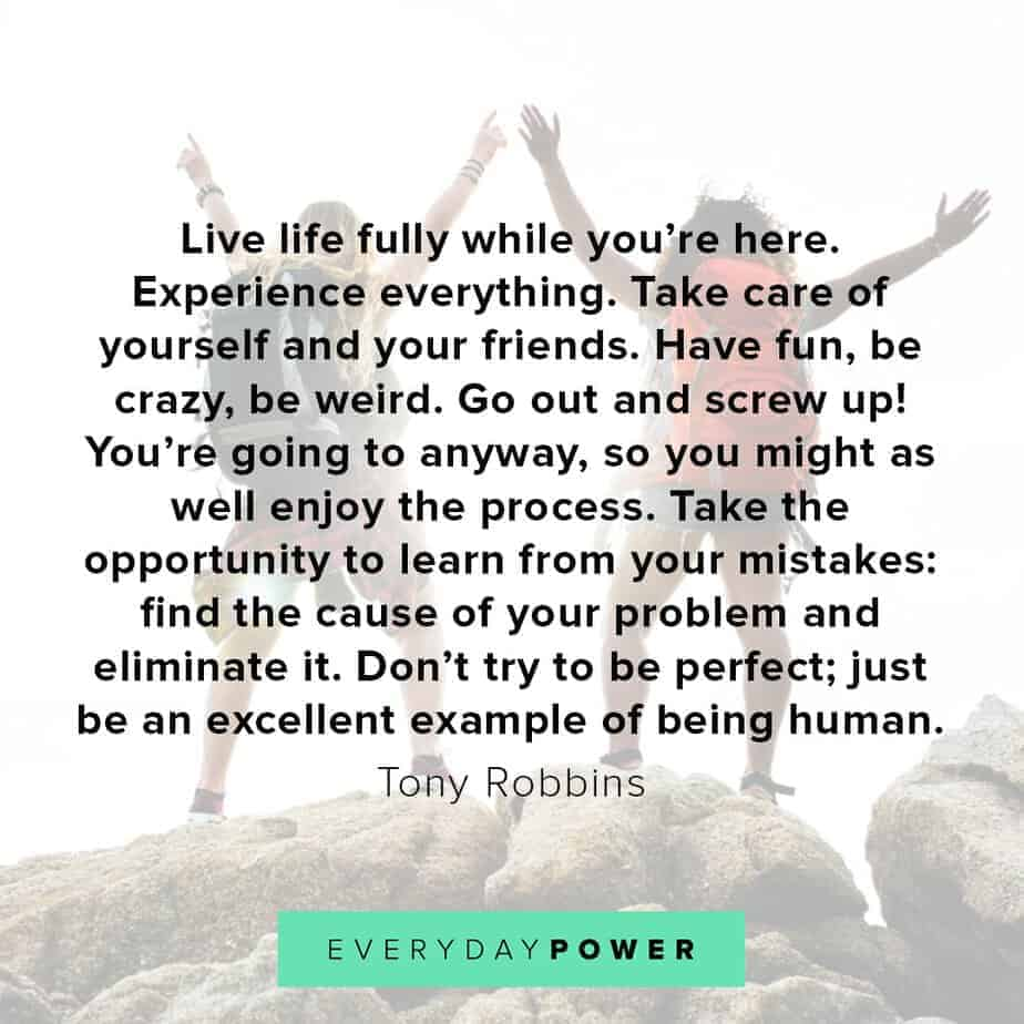 Tony Robbins quotes on living fully