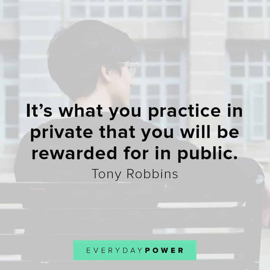 Tony Robbins quotes on being rewarded