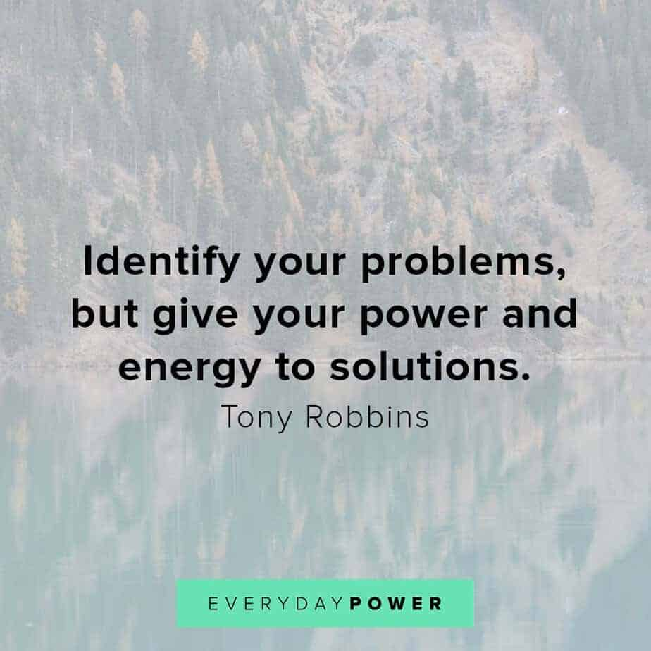 Tony Robbins quotes on solutions