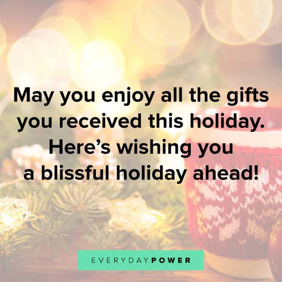 Happy Holidays Quotes about gifts