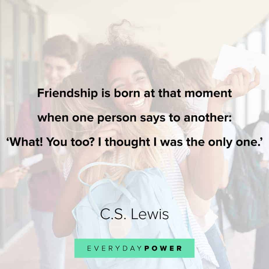 Friendship quotes about the moment its born