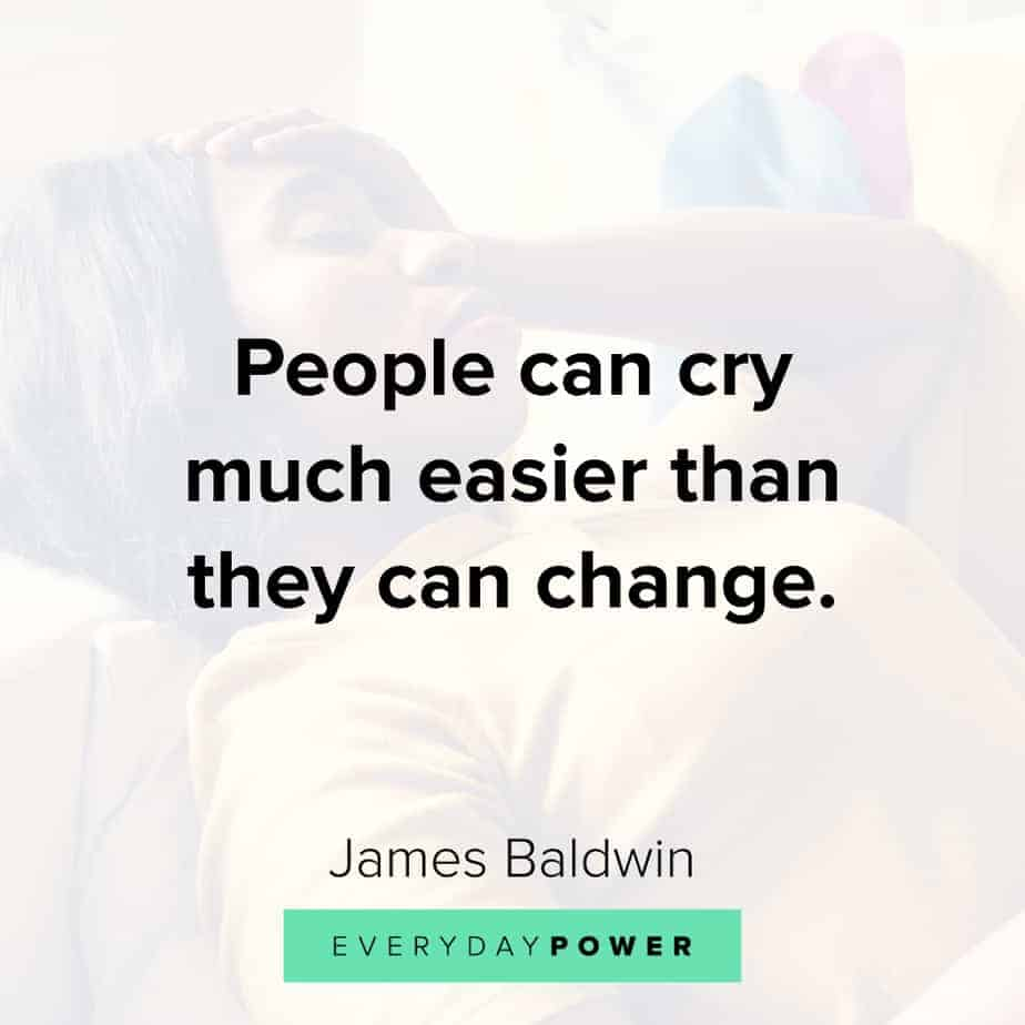 James Baldwin quotes on change