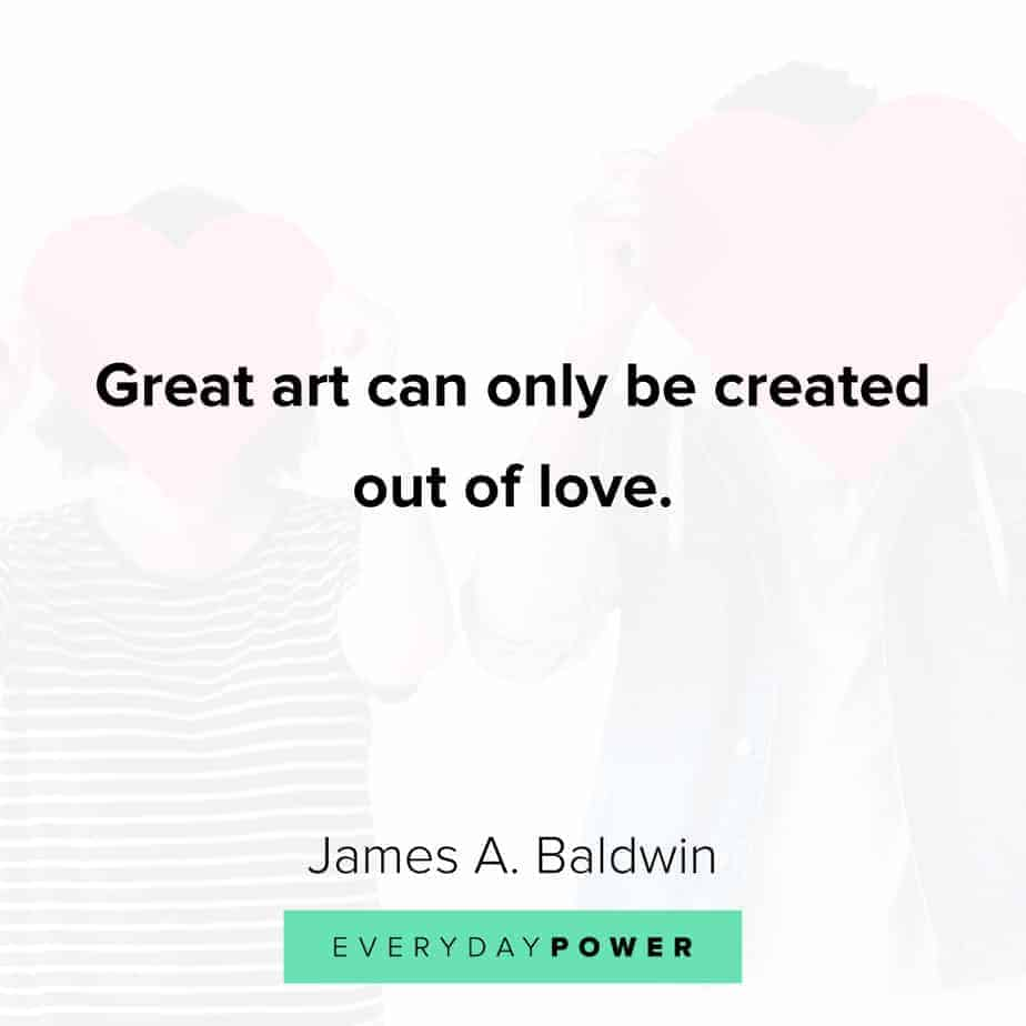 james baldwin quotes on great art