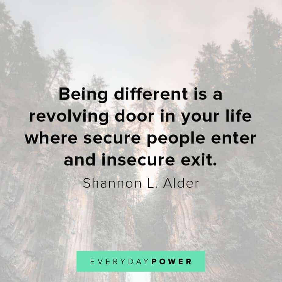 letting go quotes about secure people