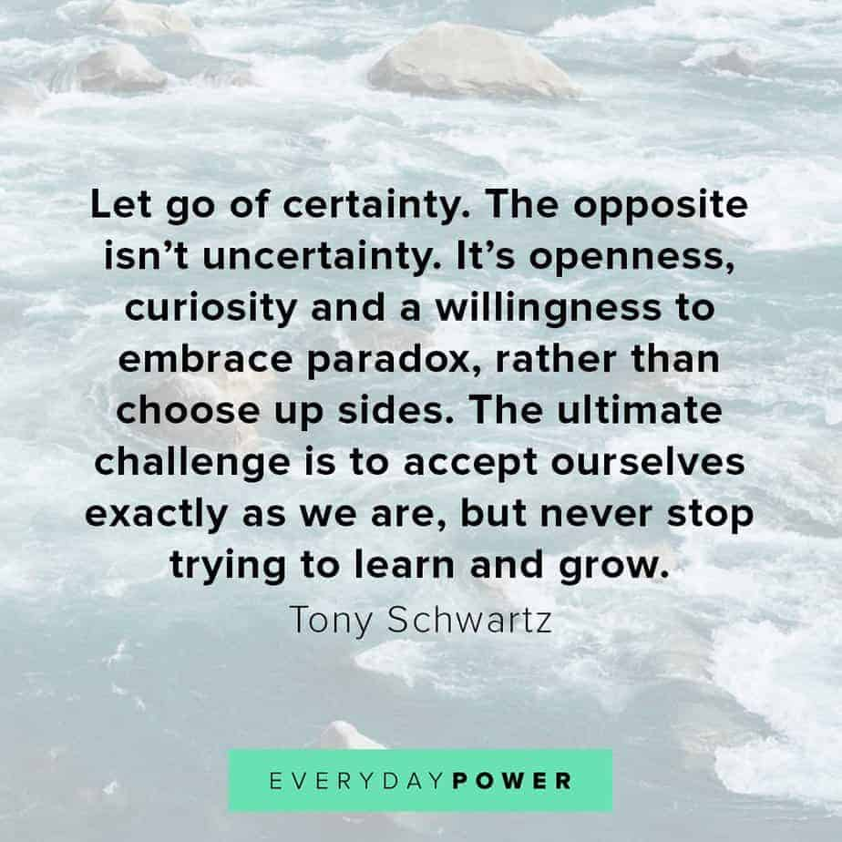 letting go quotes about uncertainty