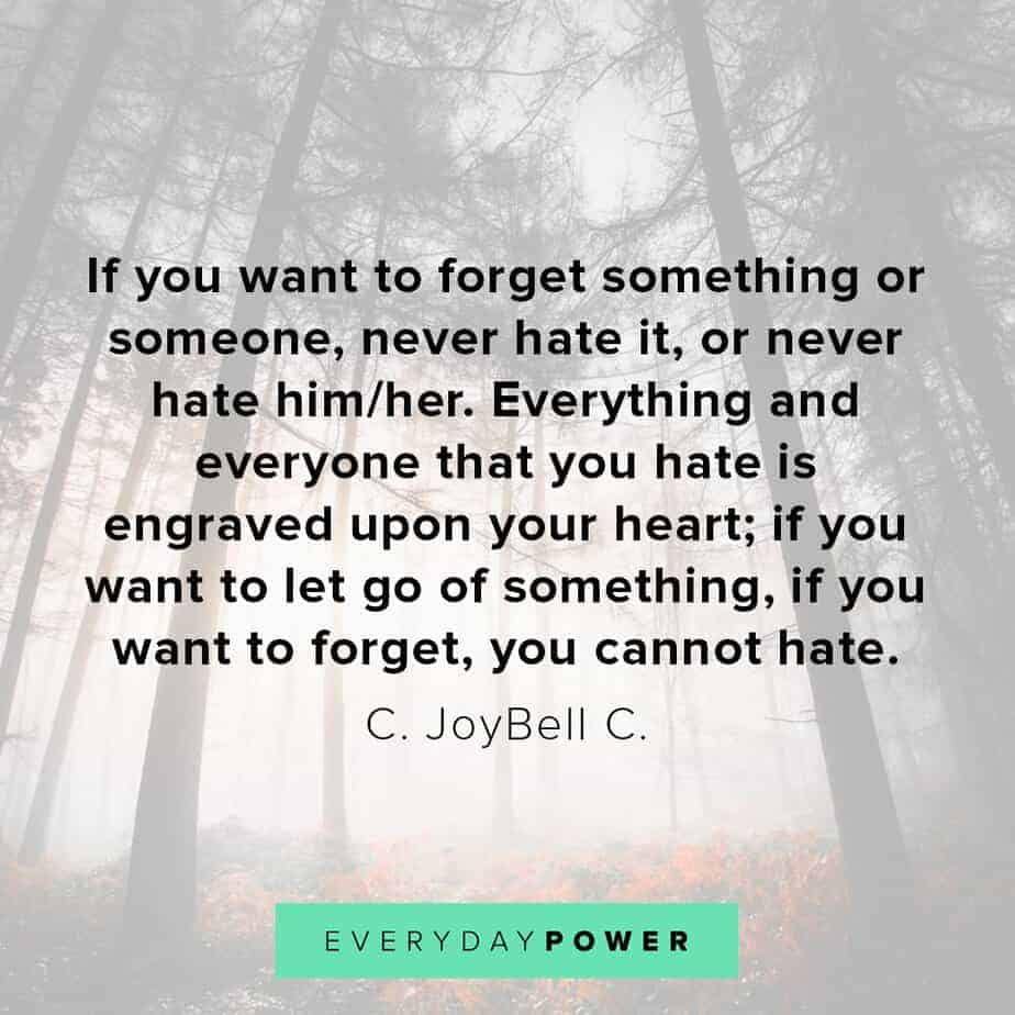 letting go quotes about hate