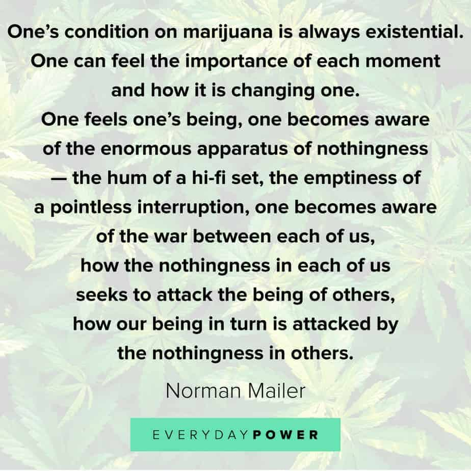 Weed Quotes about existence