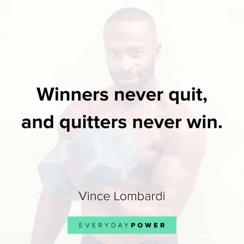never give up quotes about winning
