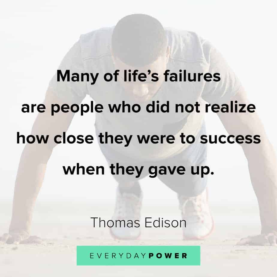 never give up quotes about life's failures