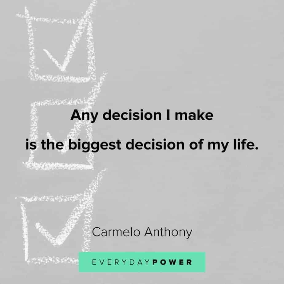 quotes about choices and decision making
