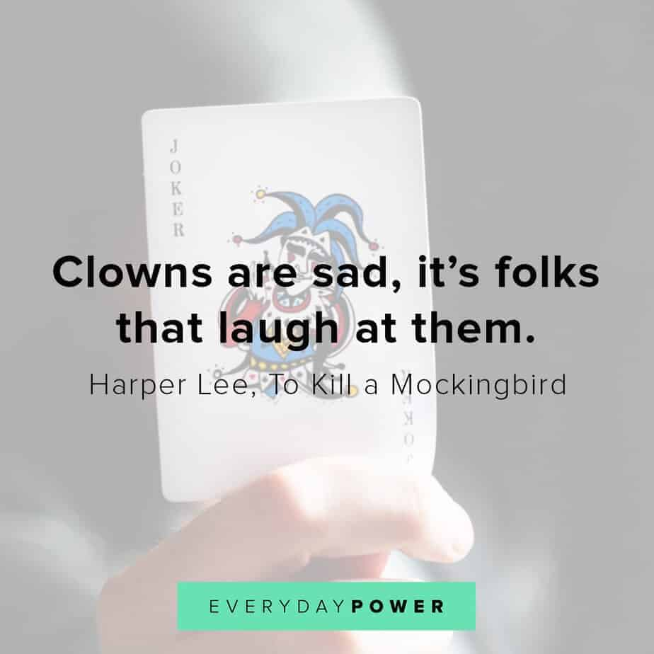 To Kill a Mockingbird Quotes about clowns