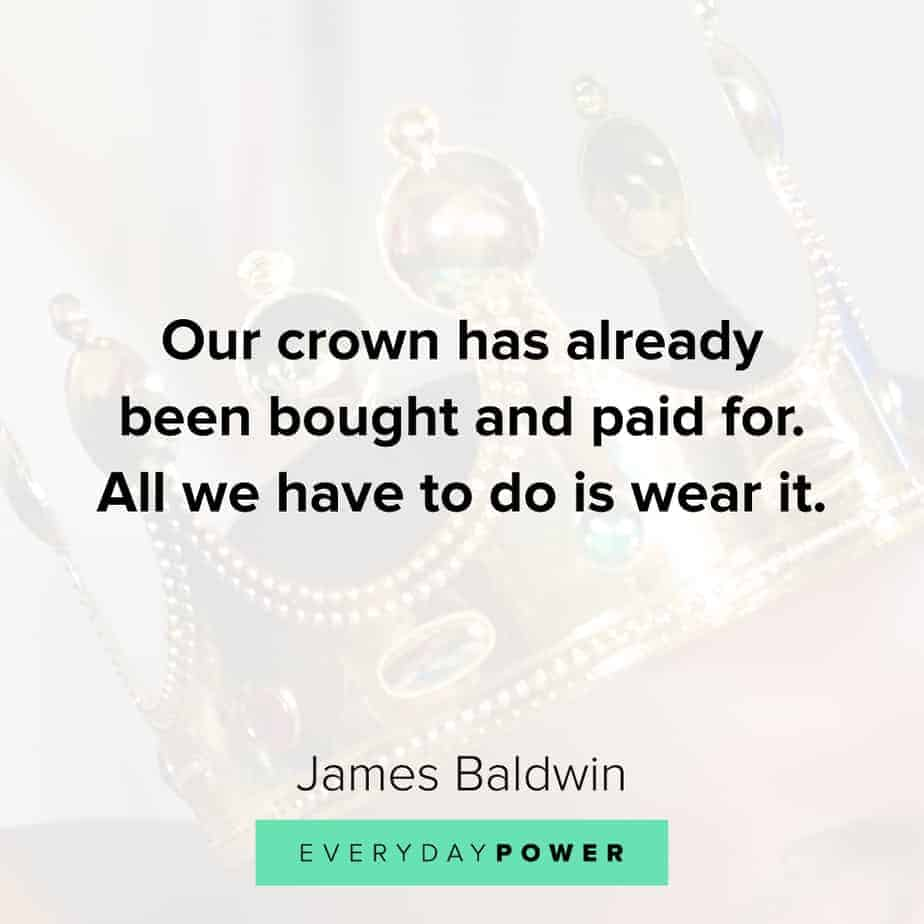 James Baldwin quotes on power