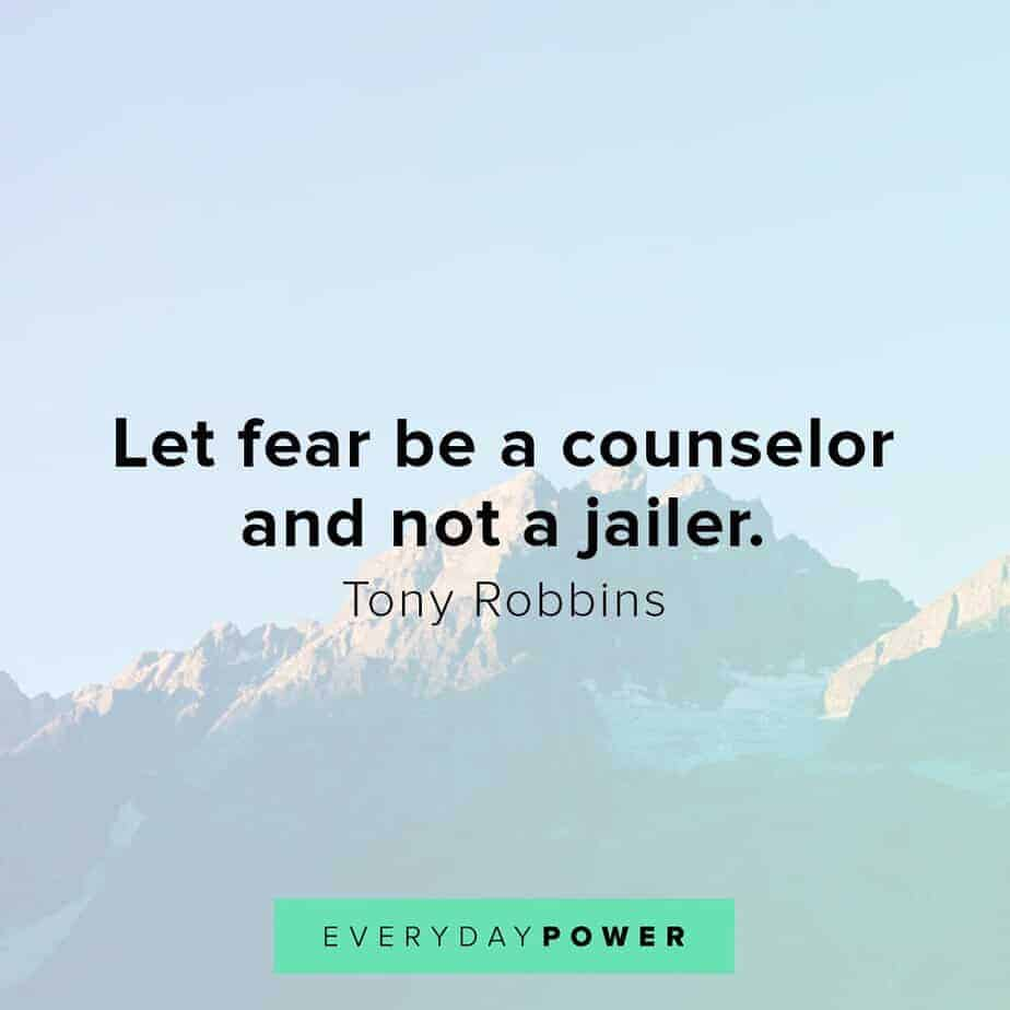 Tony Robbins quotes on fear