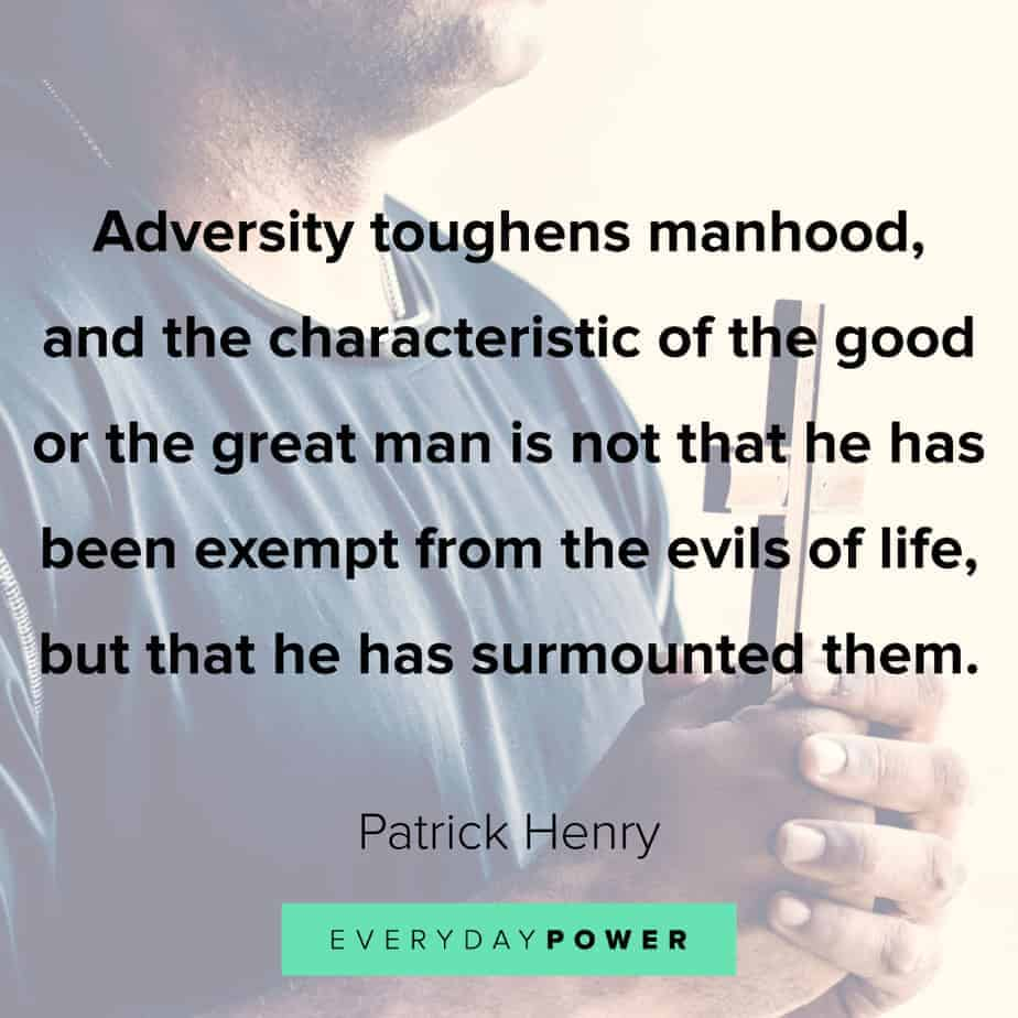 Good Man Quotes about adversity